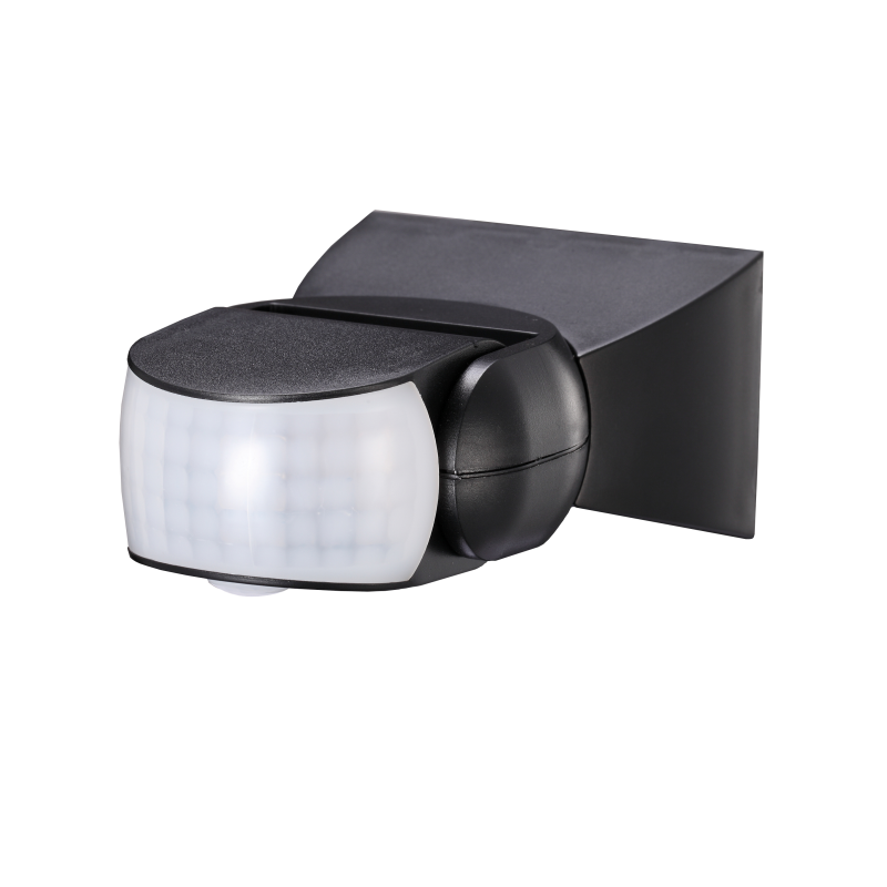 Czujnik ruchu 180°/360°, IP65, 1200W, czarny