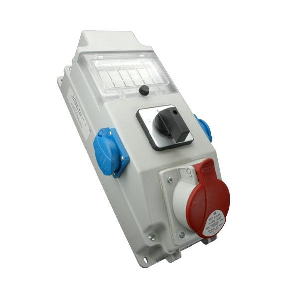 Rozdzielnica 1x32A/5P, 2x250V, okienko, wyłącznik 0-1